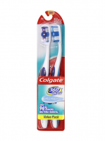 Colgate 360 Toothbrushes Soft Full Head 2 Each [035000687821]