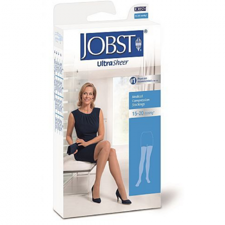 JOBST Medical LegWear Thigh High 15-20 mmHg Ultra Sheer Large Beige 1 Pair [035664193799]