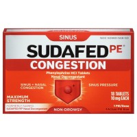 SUDAFED PE Congestion Tablets 18 ea [300450581181]