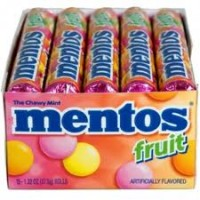 Mentos  Mixed Fruit Flavor Roll 15 Rolls (1.32 oz per roll)  [073390005771]