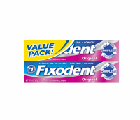 Fixodent Original Denture Adhesive Cream, Value Pack 4.8 oz [037000308935]