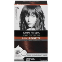 John Frieda Precision Foam Colour Brilliant Brunette (Dark Chocolate Brown) 4BG 1 Each [717226162039]