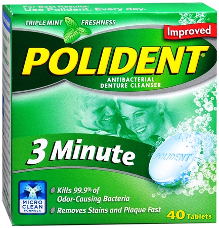 Polident 3 Minute Tablets 40 Tablets [310158053064]