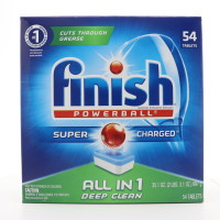 Finish All-in-One Dishwasher Detergent Powerball Tablets, Fresh Scent 54 ea [051700810505]
