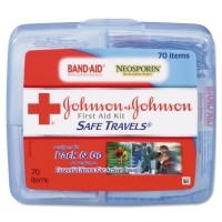 JOHNSON & JOHNSON First Aid Kit Safe Travels 1 Each [381370082743]