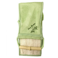Pure Body Bamboo & Loofah Full Body Scrubber  1 Ea [606292202360]