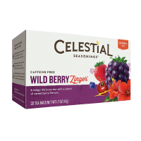 Celestial Seasonings Tea Caffeine Free Herbal Tea, Wild Berry Zinger 20 ea [070734053351]