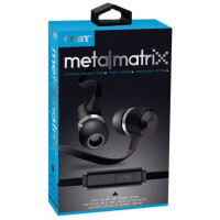Coby Metal Matrix Earbuds, Black 1 Ea [812180025939]
