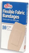 Bandages Flexible Fabric, Extra Large 2 Inches x 4 Inches 10 ea [616784369594]
