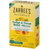 Zarbee's Naturals Cough & Throat Relief + Mucus Daytime Drink Mix with Dark Honey, Natural Lemon Flavor, Packets 6 ea [858438005070]