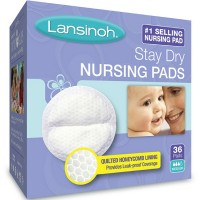 Lansinoh Stay Dry Nursing Pads Medium 36 Each [044677202602]