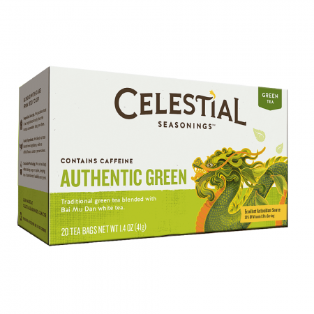 Celestial Seasonings Authentic Green Tea 20 ea [070734070341]