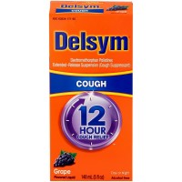 Delsym Adult Cough Suppressant Liquid, Grape Flavor, 5 oz [363824171654]