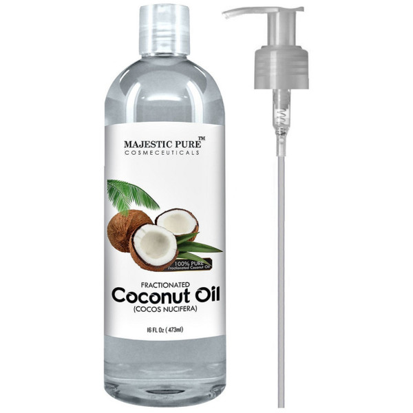 d6de2109afd Majestic Pure Fractionated Coconut Oil 16 oz [784672651219]