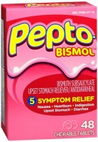 Pepto-Bismol Chewable Tablets Original 48 Tablets [301490326428]