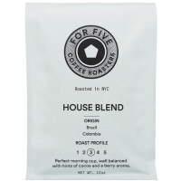 For Five House Blend Ground 12 oz [853473008161]