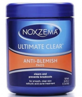 Noxzema Ultimate Clear Anti-Blemish Pads 90 Each [087300560076]