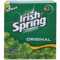 Irish Spring Deodorant Bar Soap, Original 3.75 oz, 3 ea [035000141088]