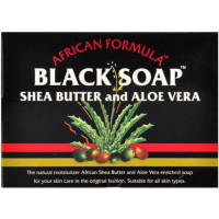 Madina African Black Soap Shea Butter and Aloe Vera, 3.5 oz [678924233073]