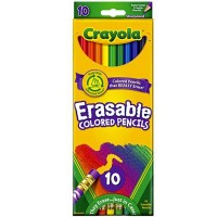 Crayola Erasable Colored Pencils Assorted 10 Each [071662044107]