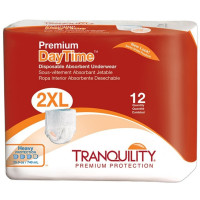 Tranquility Premium Daytime Disposable Absorbent Underwear (DAU) - XXL 12 ea [070319021089]