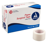 "Dynarex Medical Tape  Porous Paper 1"" X 10 Yard White NonSterile [616784355238]"