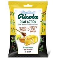 Ricola Dual Action Cough & Throat Drops, Honey Lemon 19 ea [036602312029]