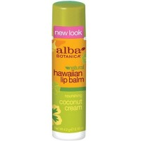 Alba Botanica Hawaiian Lip Balm, Nourshing Coconut Cream 0.15 oz [724742008376]