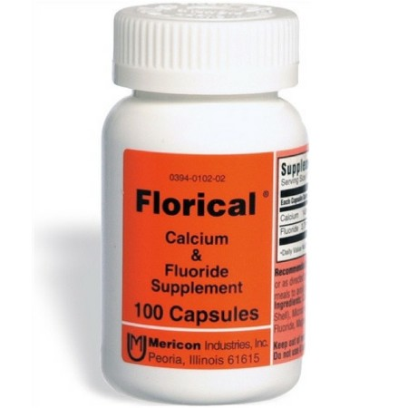 Florical Calcium And Fluoride Supplement Capsules 500 ea [303940102057]