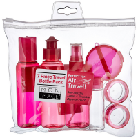 Body Image 7 Piece Travel Bottle Pack, Colors May Vary 1 ea [079625011654]