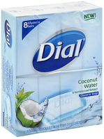 Dial Glycerin Soap Bars Coconut Water & Bamboo Leaf Extract 8 ea [017000093093]