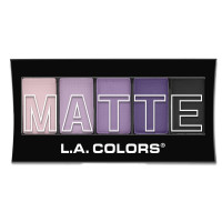 L.A. Colors 5 Color Matte Eyeshadow, Purple Cashmere 0.08 oz [081555744731]
