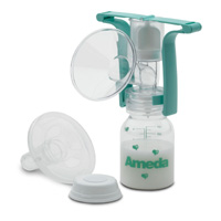 Ameda One Hand Breast Pump W/ Flexishield 1 ea [032884161799]
