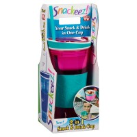 As Seen On TV Snackeez Plastic 2 in 1 Snack & Drink Cup, Colors May Vary 1 ea [754502025862]