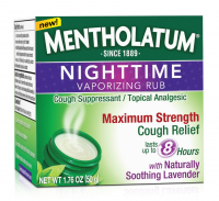 Mentholatum Nighttime Vaporizing Rub Maximum Strength Cough Relief, 1.76 oz [310742011197]
