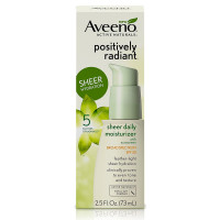 AVEENO Positively Radiant Sheer Daily Moisturizing 2.5 oz [381371172849]