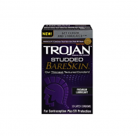 TROJAN Studded BareSkin Premium Lubricated Latex Condoms 10 ea [022600228899]