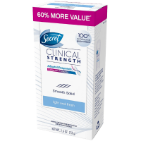 Secret Clinical Strength Adapts & Responds Smooth Solid Anti-Perspirant/Deodorant, Light and Fresh Scent 2.6 oz [037000174257]