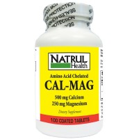 Nat-Rul Cal-Mag Natural Amino Acid Chelated Tablets 100 ea [094604111903]