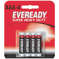 Eveready Super Heavy Duty Batteries AAA 4 ea [039800040015]