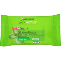 Garnier SkinActive Clean + Refreshing Remover Cleansing Towelettes 25 ea [603084270248]