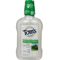 Tom's of Maine Long Lasting Wicked Fresh Mouthwash, Cool Mountain Mint 16 oz [077326460160]