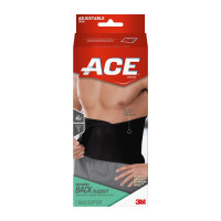 ACE Contoured Back Support,One Size Adjustable, Black,  1 ea [051131198463]