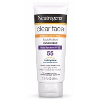 Neutrogena Clear Face Break-Out Free Liquid-Lotion Sunscreen SPF 55 3 oz [086800860334]