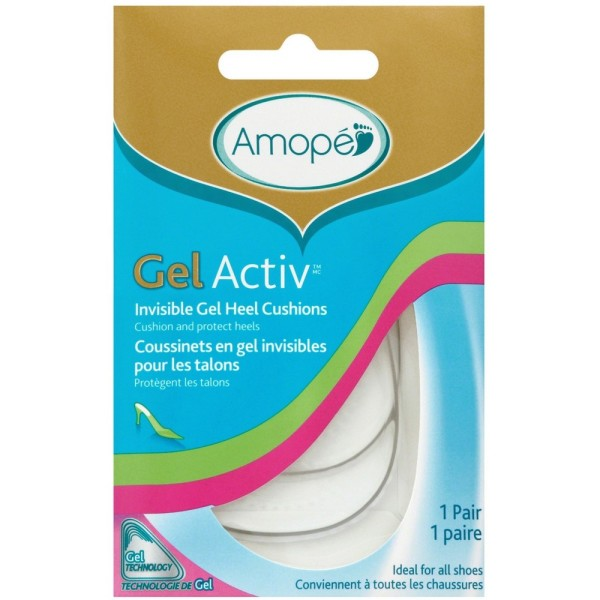 efcfbf8aa01 Amope GelActiv Invisible Gel Heel Cushions Insoles for Women
