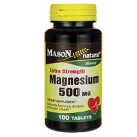 Mason Natural Extra Strength Magnesium 500 mg Tablets 100 ea [311845160119]