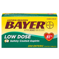Bayer Low Dose 81 mg Safety Coated Aspirin Tablets 200 ea [312843536401]
