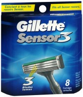 Gillette Sensor3 Shaving Cartridges 8 Each [047400120969]