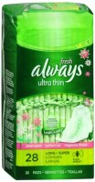 Always Fresh Ultra Thin Pads Long Super Flexi-Wings 28 Each [037000029267]