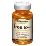 Sundown Naturals Iron 65 mg Tablets 120 Tablets [030768412838]